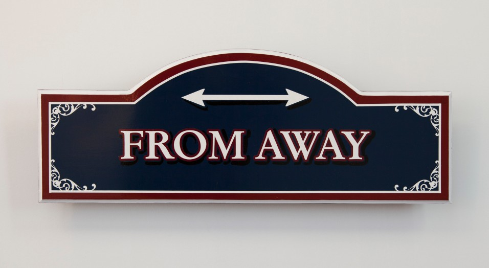 """Sign made by Signworks of Farmington, ME; 24"""" x 9"""""""